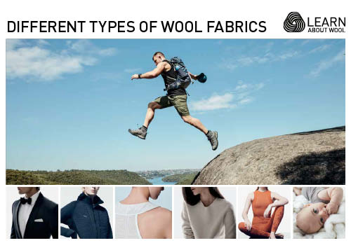Different types of wool fabrics