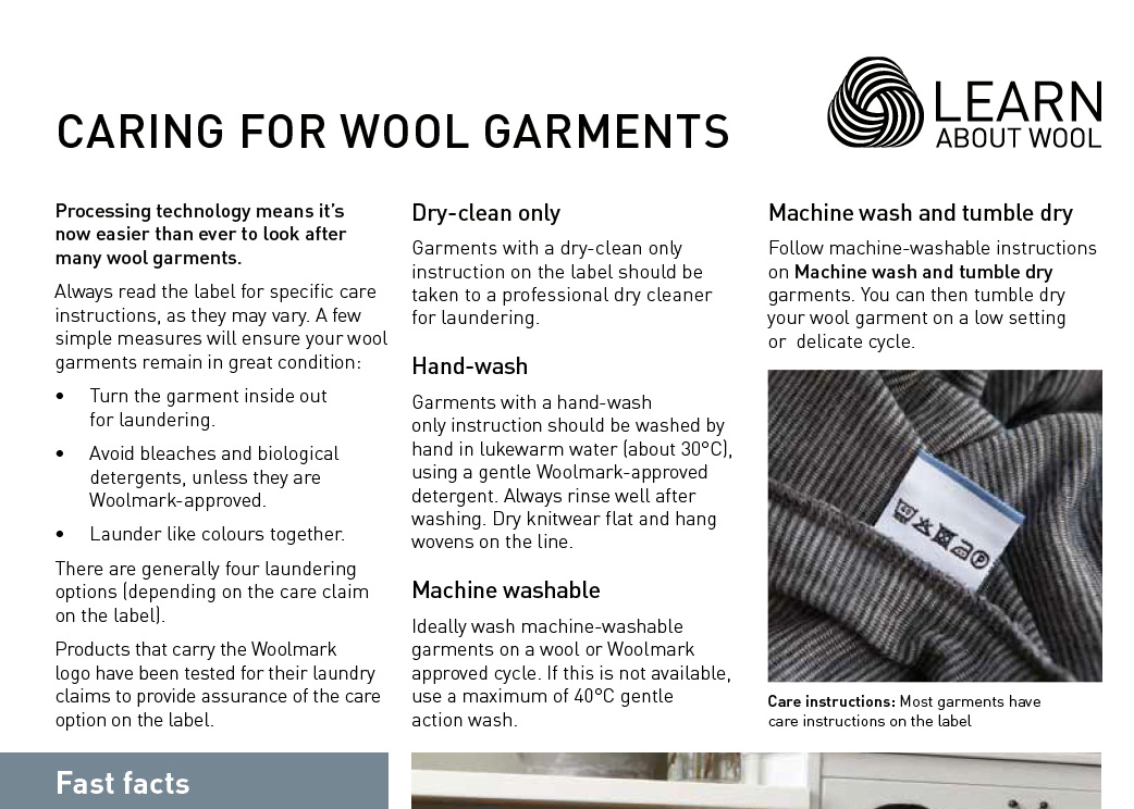 Caring for wool garments